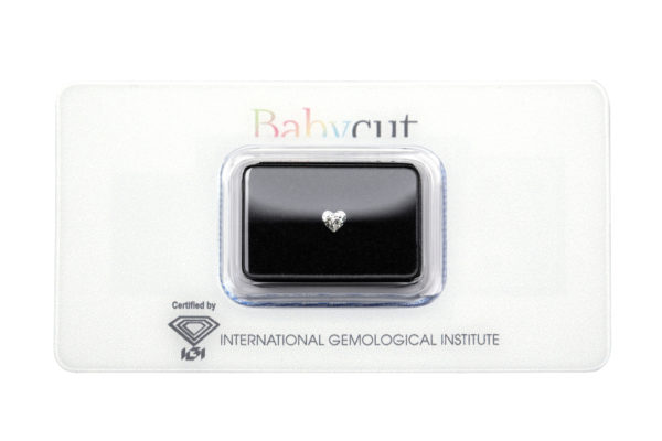 Babycut Blister Diamante Cuore da 0.24 carati - Foto prodotto
