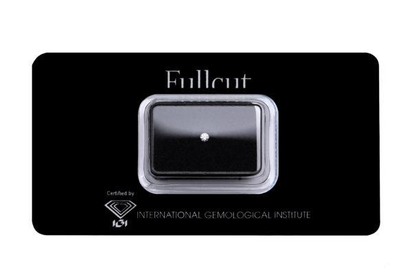 Fullcut blister diamante taglio brillante 0.08 carati - Foto prodotto