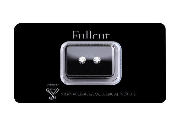 Fullcut blister due diamanti taglio brillante da 0.50 carati l'uno - Foto prodotto
