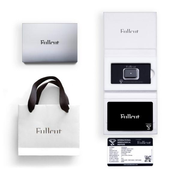 Confezione regalo argento Fullcut diamante taglio brillante - Foto prodotto