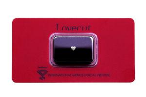 Lovecut blister diamante a cuore 0.18 carati - Foto prodotto