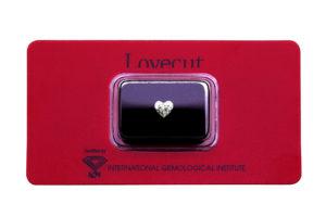 Blister Lovecut diamante cuore 1 carato - Foto prodotto