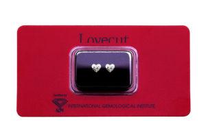 Lovecut blister due diamanti cuore da 0.50 carati l'uno - Foto prodotto
