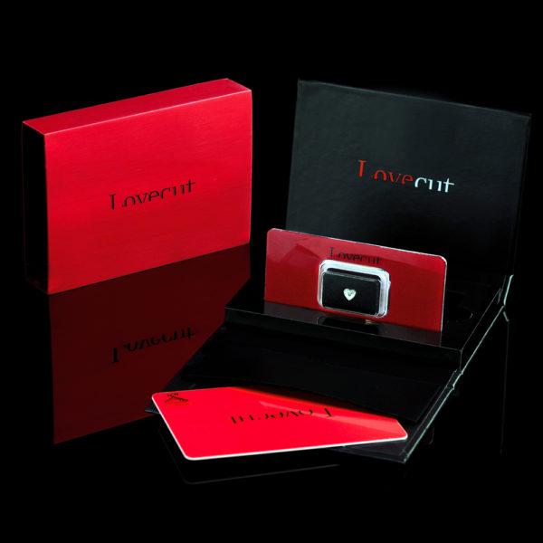 Lovecut confezione regalo rossonera diamante a cuore - Foto prodotto